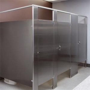 material for stainless steel toilet partitions