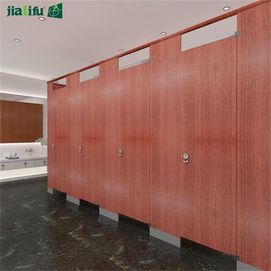 wood grain toilet partition