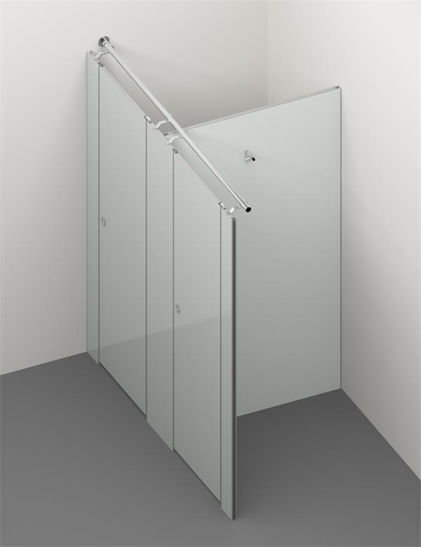 Glass Composite Toilet Cubicle 2