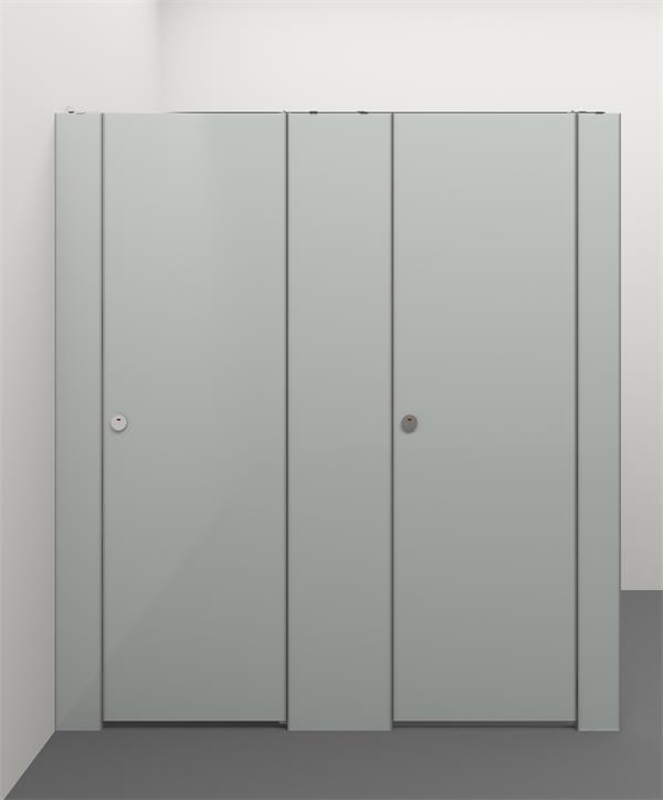 Glass Composite Toilet Cubicle