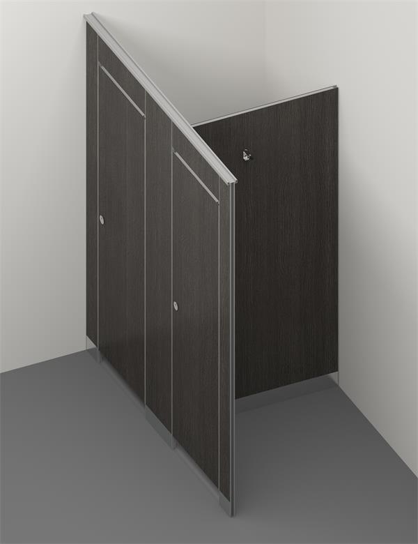 HPL honeycomb toilet cubicle 1
